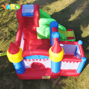 Image 2 - YARD Inflatable House Trampoline Bounce Castle  with Slide Home Use Park Inflatable Bouncer For Children Outdoors Games