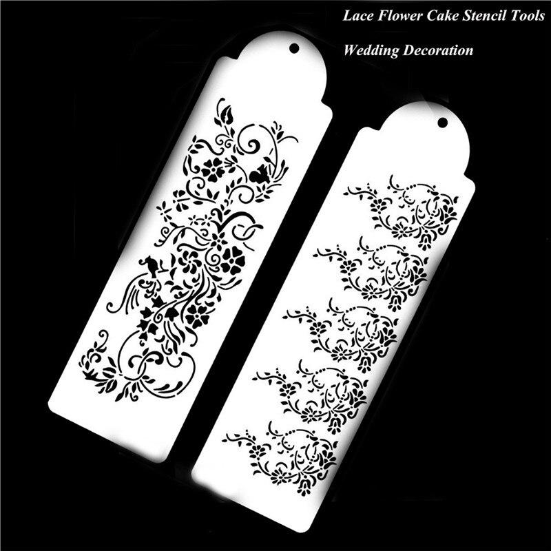 V! Lace Flower Cake Cookie Fondant Side Baking Wedding Stencil Decor DIY Tools
