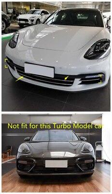 Chrome Front Bottom Grille Grill Cover Trim 4pcs for Porsche Panamera 2017-2018