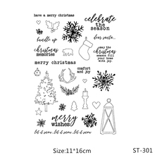 ZhuoAng Happy Christmas/Snowflake Clear Stamps/Card Making Holiday decorations For  scrapbooking Transparent stamps 11*16cm
