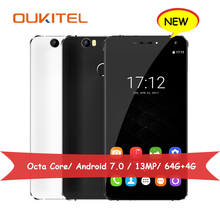 Oukitel U11 Plus Smartphone MT6750T Octa Core 1.5GHz 64G ROM 4G RAM Android 7.0 Mobile Phones 5.7″ FHD 13MP Cellphone 3700mAh