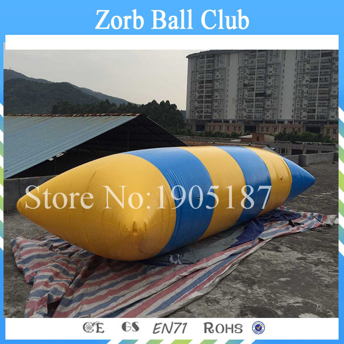 Free Shipping Hot Sell 0.9mm PVC Inflatable Water Blob,PVC Inflatable Water Catapult Blob Jump free shipping 6 2m 0 9mm pvc inflatable trampoline water pillo water blob jump inflatable jumping jump bed on water