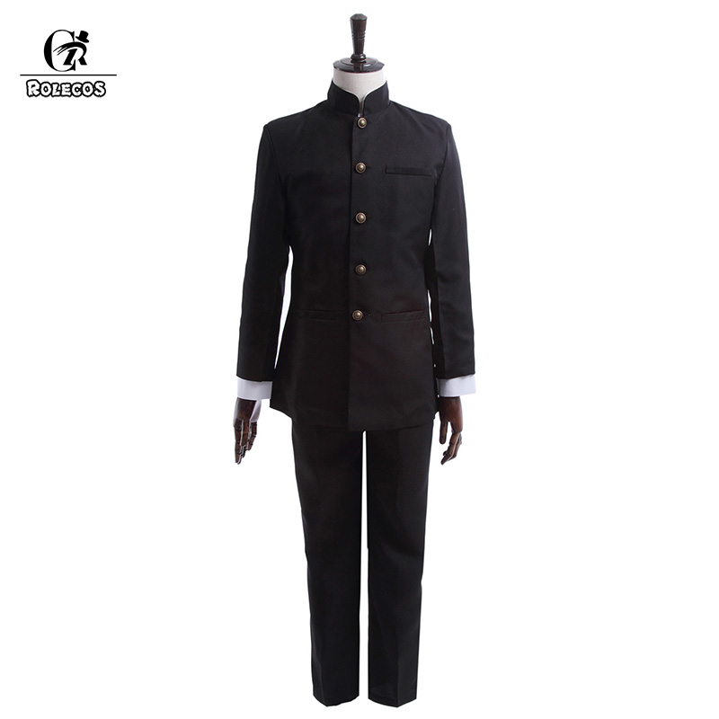 ROLECOS Brand New Spring Men School Uniform Suit Cosplay Uniform Japanese School Boy Uniform Jackets Pants Clothing Set