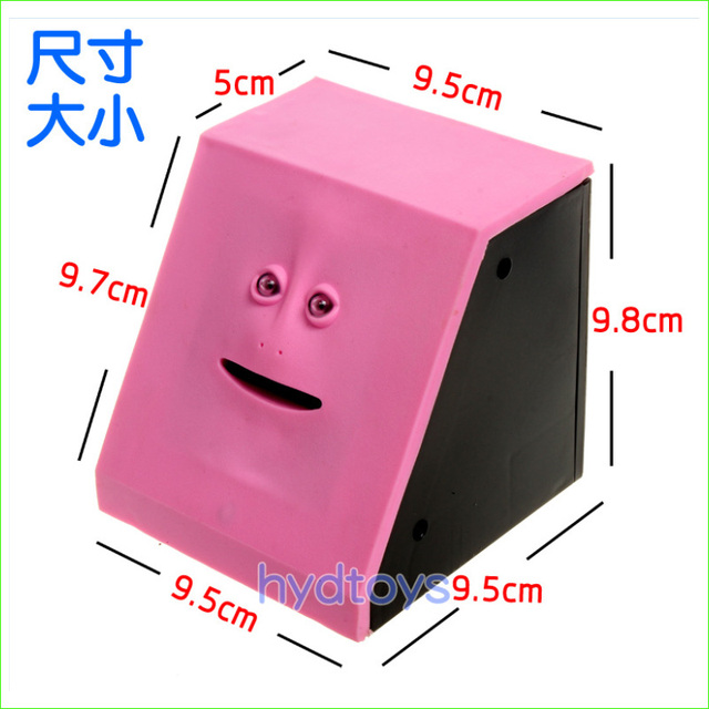 1pcs Cute Facebank Face Money Box Sensor Coin Saving Bank Piggy Bank