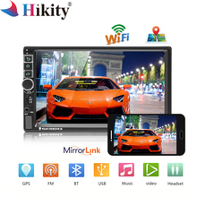 Hikity 8802 Universal 2din Car Radio Android GPS Bluetooth Autoradio Stereo Mirrorlink Multimedia MP5 Player Rear View Camera