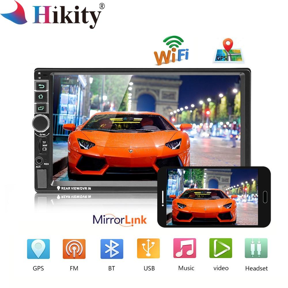 Hikity 8802 universel 2din Autoradio Android GPS Bluetooth Autoradio stéréo Mirrorlink multimédia MP5 lecteur caméra de recul