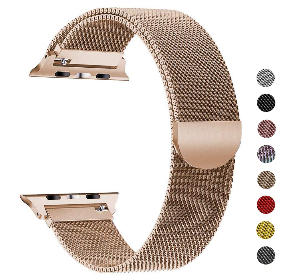 Milanese Loop Bracelet Stainless Steel strap For Apple Watch series 1/2/3 42mm 38mm Bracelet band for iwatch series 4 40mm 44mm