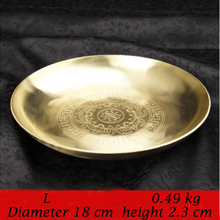 Pure copper thickening Plate for Fruits nut tableware gold household Dish dried Fruit Plates dinnerware cutlery
