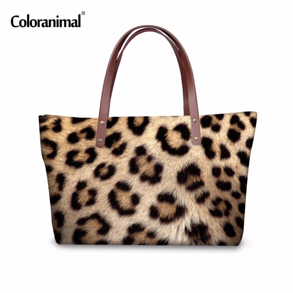 Coloranimal Brand Fashion Women Handbag Leopard Striped Printing Ladies Messenger Bags Female large Capacity Shoulder Daily Bag new arrival fashion large capacity messenger bags handbag female 100