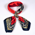 New Women Profession Red Small Square Scarf 2015 Fashion Autumn Winter Ladies Leopard Print Silk Scarf 52*52cm Spring Silk Scarf