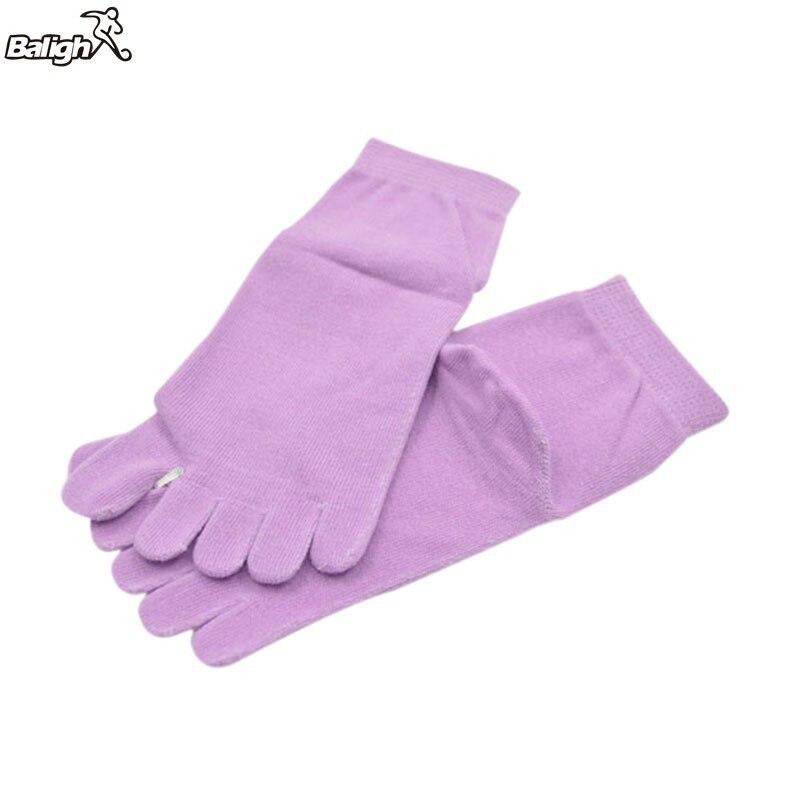 Balight Women Durable Yoga Socks Antibacterial Non-slip Backless Dance Pilates 4 Solid Colors Sports Socks Meias Calcetines