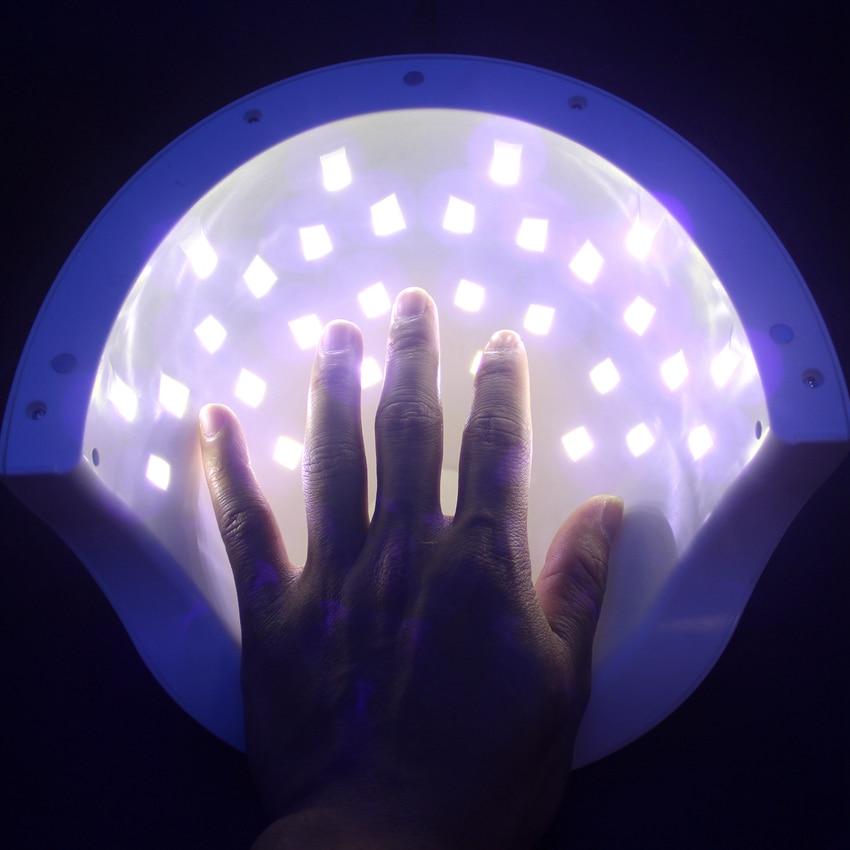 SUN5S Nail Dryer 50W Dual UV Lamp LED Nail Lamp With LCD display Professional Curing Nail Tools for All UV Gel Nail Polish professional 216 colors nail gel polish display book chart