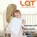 Caja de regalo de Embalaje 4 Unidades Un Paquete Bebé Cambiador Bebé de Pañales Lavables Reutilizables Pañales de Gasa de Algodón Recién Nacido Tamaño 70*70 cm