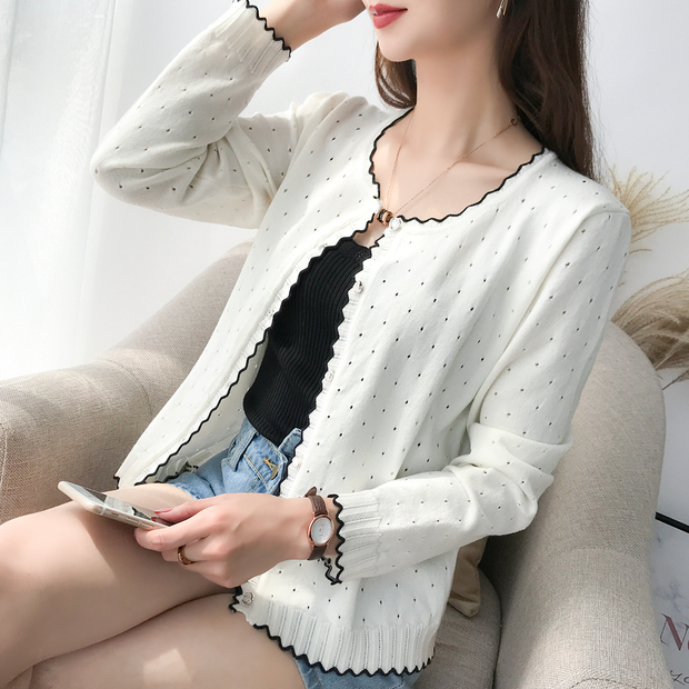 9254 Short-style Knitted Cardigan With Shawl And Thin Sweater, 9 Rows And 2 Rows On 31-2 Floor