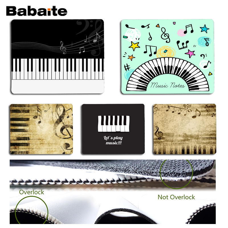 Babaite New Printed Music Notes Piano Comfort Mouse Mat Gaming Mousepad Size for 180x220x2mm and 250x290x2mm Small Mousepad