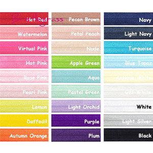 "BRISTLEGRASS 5 Yard 3/4"" 20mm Solid Shiny FOE Fold Over Elastic Bands Hair Tie Headband Dress Lace Trim DIY Sewing Accessories(China)"