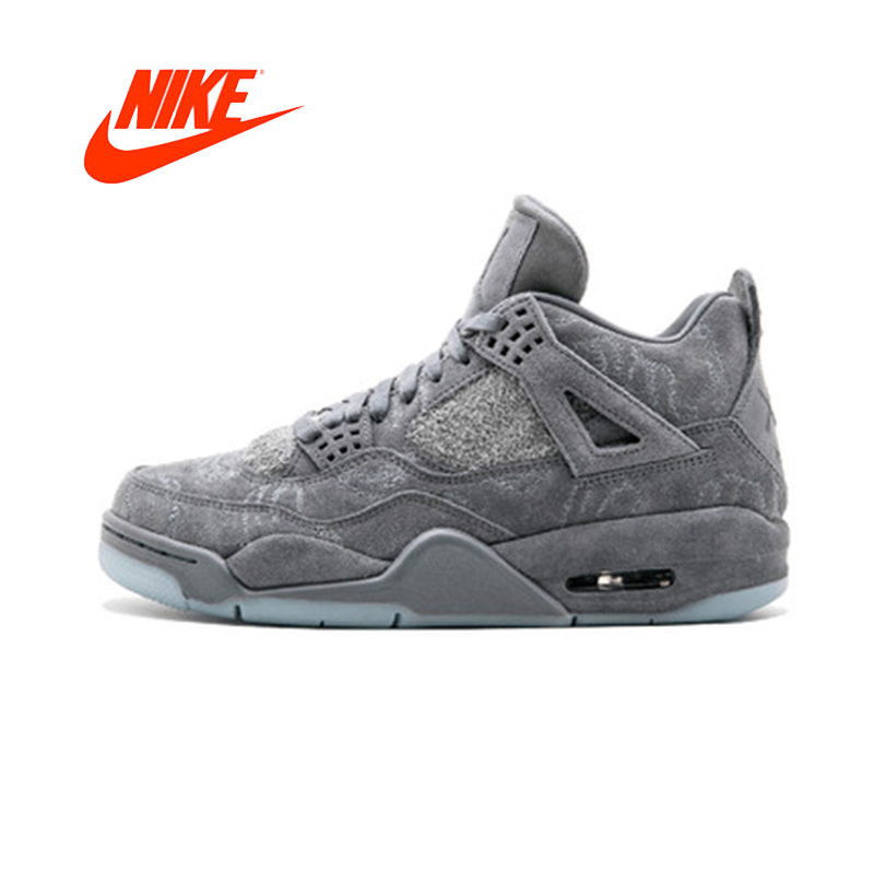 designer fashion e5495 437f1 ... sale original new arrival authentic nike air jordan 4 retro kaws aj4  mens basketball shoes sport