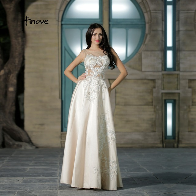White Prom Dresses with Color