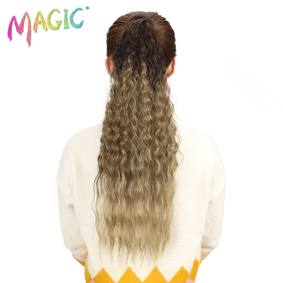 MAGIC Hair 26Inch Long Wavy Ponytail High Temperature Synthetic Female Fiber Wig Clip Extension For All Women