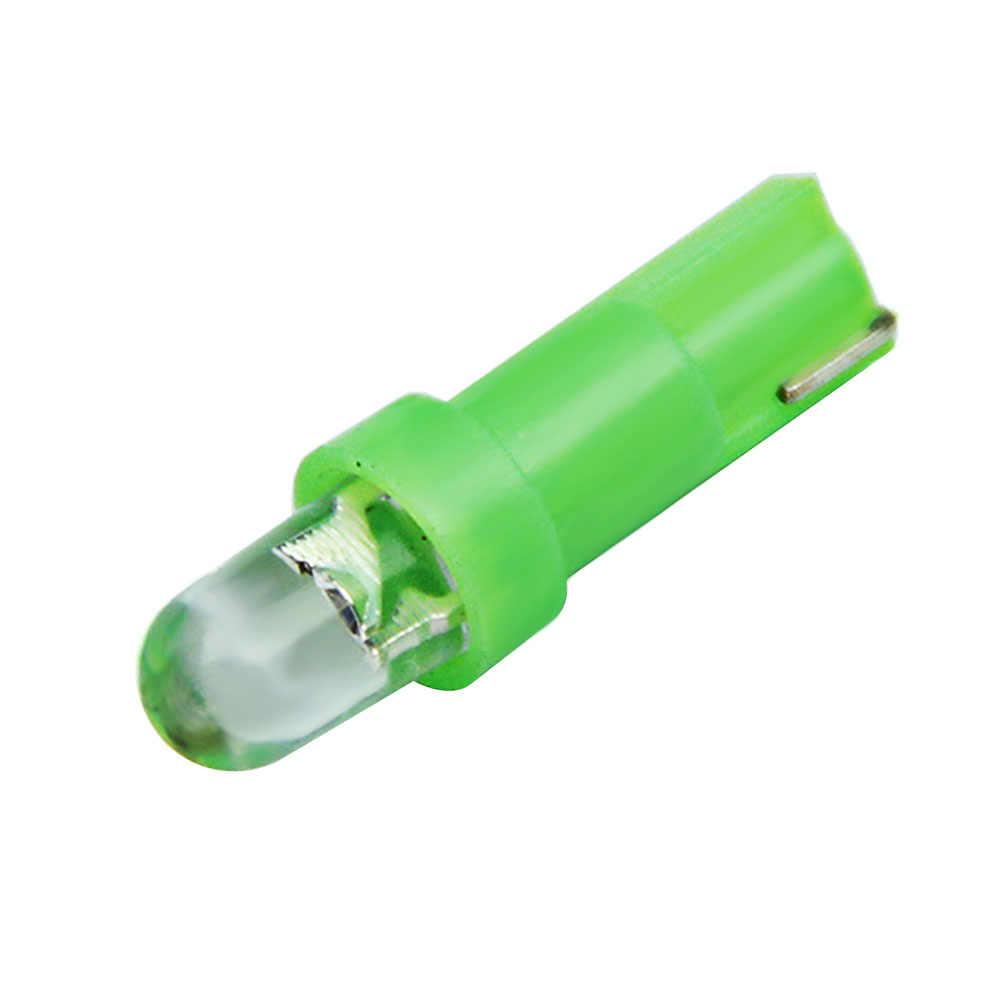 20 Pcs Mobil Interior T5 LED 1 SMD LED Dashboard Baji 1LED Mobil Lampu T5 Bohlam Lampu LED T5 12 V Kuning/Biru/Hijau/Merah/Putih LED