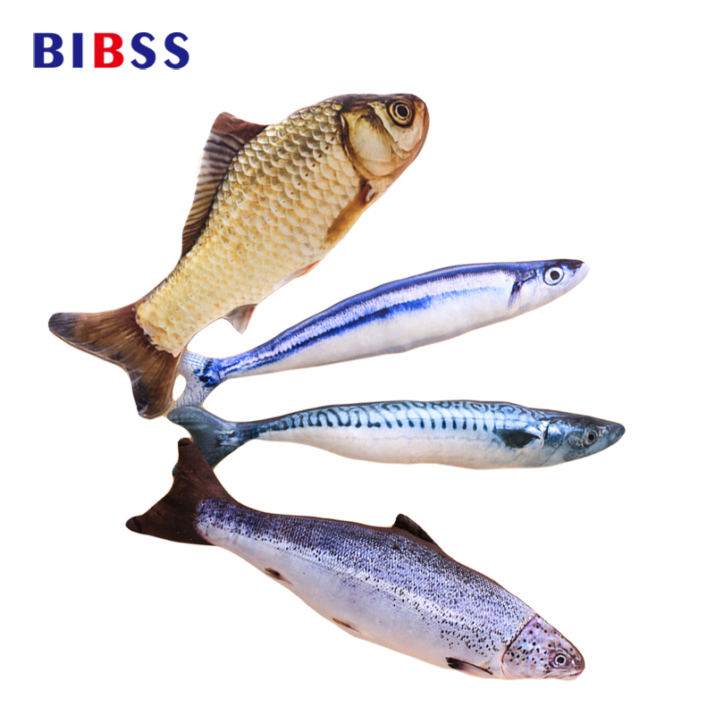 40CM Cute Fish Shape Cat Animal Toy Vivid Sisal Fish Hemp Cat Board Scratching ارسال اسباب بازی های بازی گربه