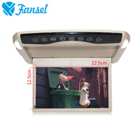 Fansel 10 1 Inch 1024x600 Car Monitor Ceiling Roof Mount LCD Color Monitor Flip Down Screen