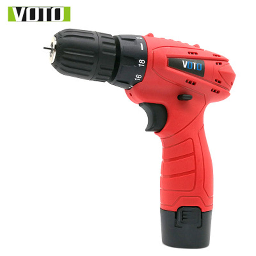 все цены на VOTO Battery Rechargeable Cordless Drill Electric Screwdriver Set Lithium Power Tools Screw Gun Driver 12V RED 220V 2018 онлайн