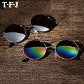 Vintage Óculos De Sol Redondos Steampunk Estilista Do Punk Do Vapor de Metal oculos de sol masculino Mulheres Homens Retro óculos de Sol óculos de Revestimento TY564
