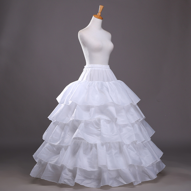Cheap 2016 New Hot Selling White 5T forging cloth tutu skirt petticoat pannier wedding accessories Free shipping