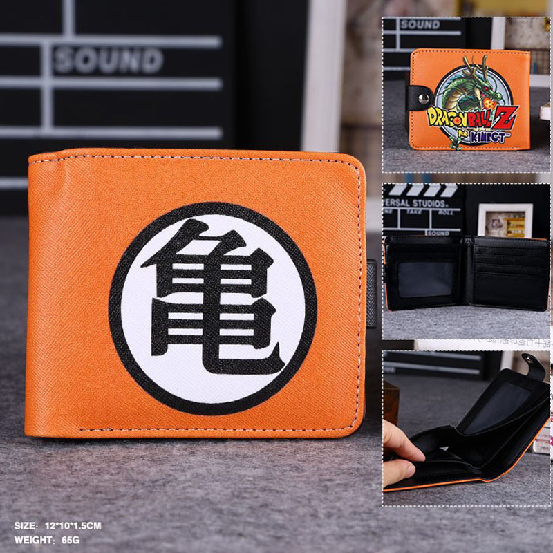 Surprise In This Summer: Anime Dragon Ball High Quality Synthetic Leather Exquisite Wallet/Master Roshi Button Purse anime game super mario synthetic leather short exquisite wallet button purse free shipping