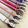 2015 Hot Sale PU Leather Bracelet BanglesSnakehead Design For Women And Men