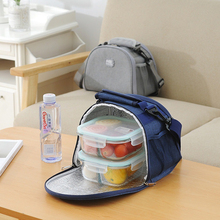 RUPUTIN Lunch Box Thermal Insulated Waterproof Bag With Shoulder Strap Picnic Office Worker Insulation Container Pack