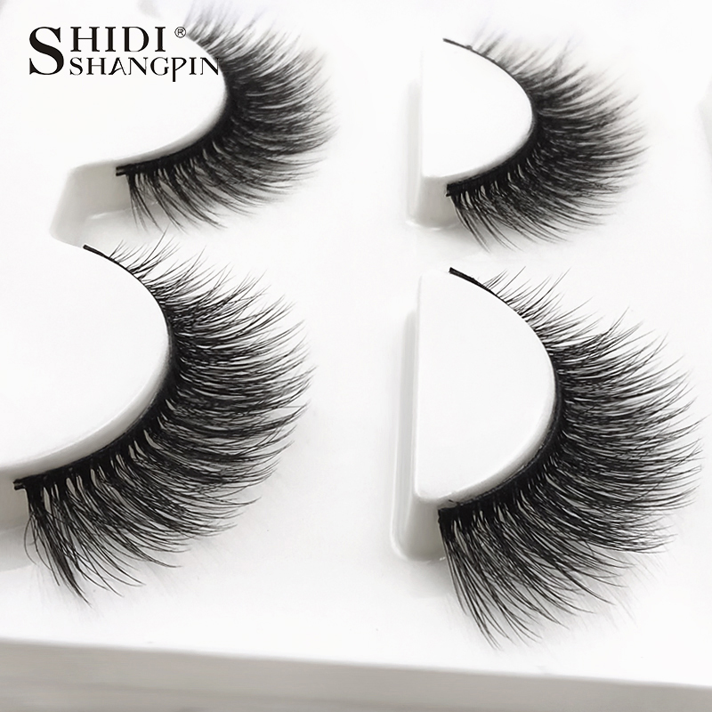 HTB1cMtlXInrK1RjSspkq6yuvXXaz SHIDISHANGPIN 3 pairs mink eyelashes natural fake eye lashes make up handmade 3d mink lashes false lash volume eyelash extension