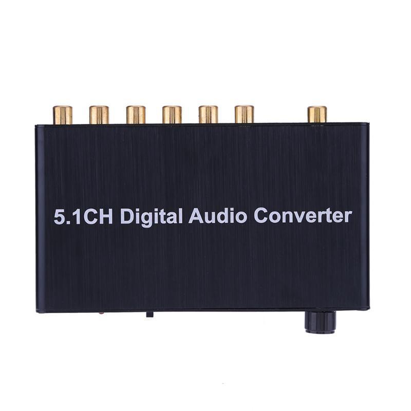 Alloyseed Black 5.1 Decoder DTS /AC3 Dolby SPDIF Input To 5.1ch Digital Audio Converter Adapter with EU Standard Plug