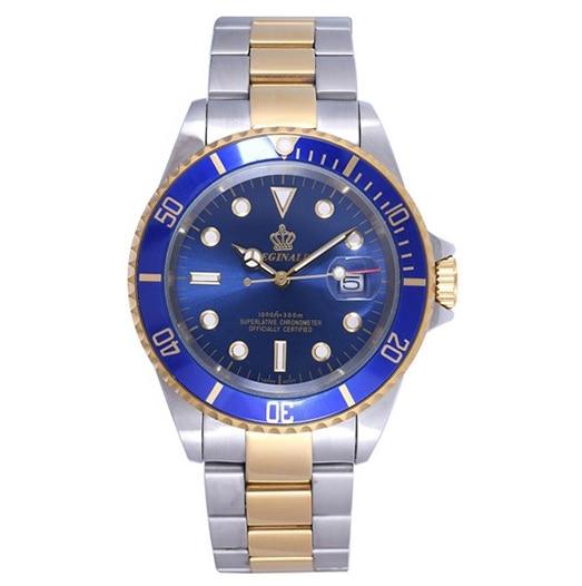 New casual fashion men brand watches gold strip GMT automatic date waterproof quartz watch new men watches casual zhongyi 611 2
