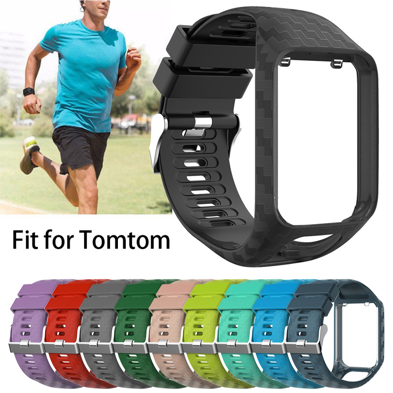Silicone Replacement Watchband Wrist Band Strap For TomTom 2 3 S Eries Runner 2 3 Spark Esries For Golfer 2 Adventurer GPS Watch
