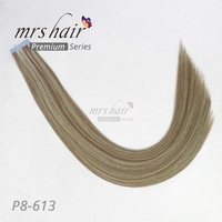 Mermaid P8 613 Double Drawn Remy Hair Extensions Tape In 16 18 20 22 Real Human Hair On Tape Seamless Skin Weft THICK
