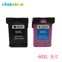 2 Pack X Ink Cartridge for HP 60XL CC641WN Blac  CC644WN Tri-Color Cartridges 60 xl hp Deskjet D2500 D2530 D2560