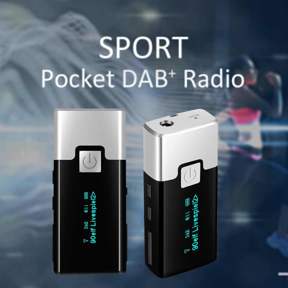 P10 Hoge kwaliteit Mini DAB FM Digitale Radio Draagbare Pocket DAB + Ontvanger met Oortelefoon LCD Display Oplaadbare Batterij