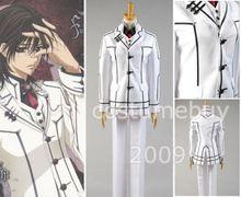Vampire Knight Aristocrat Shiki Senri White Uniform White Jacket Vest Shirt Anime Halloween Cosplay Costume For Men Custom Made