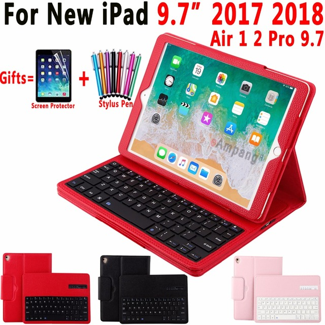 7a6c6a8a6c5 Top Removable Wireless Bluetooth Keyboard Leather Case Cover for Apple iPad  Air 1 2 Pro 9.7 iPad 9.7 2017 2018 Coque Capa Funda
