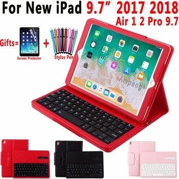 80ed77ead01 Superior desmontable teclado Bluetooth inalámbrico Funda de cuero para  Apple iPad aire 1 2 Pro 9,7 iPad 9,7 De 2017 a 2018 coque Capa Funda