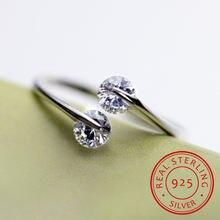 Реальные оригинальные серебряные кольца открытые дизайнерские