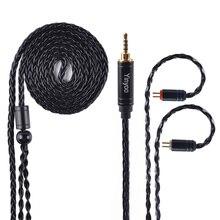 AK Yinyoo 8 Core Модернизированный посеребренный медный кабель 3,5/2,5/4,4 мм кабель для наушников с MMCX/2Pin для KZ ZST/ZS10/AS10/AS12 CCA