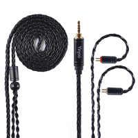 AK Yinyoo 8 rdzeń ulepszony posrebrzana miedź kabel 3.5 2.5mm kabel do słuchawek z MMCX 2Pin dla ZSTZS10AS10ZSX C12 V2 BLON TRN
