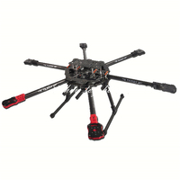 Tarot 680Pro 3K Pure Full Folding Carbon Fiber Hexacopter 680mm FPV Aircraft Frame w/ Landing Skid TL68P00 f/ RC Photography