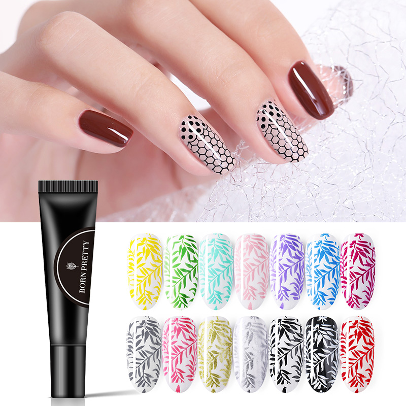 Born Pretty Gold Silver Nail Stamping Gel Polish 8ml Pure