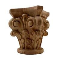 VZLX Деревянные Резные углу накладка аппликация декор мебели Craft Неокрашенный украшения дома аксессуары Книги по искусству фигурка деревянн