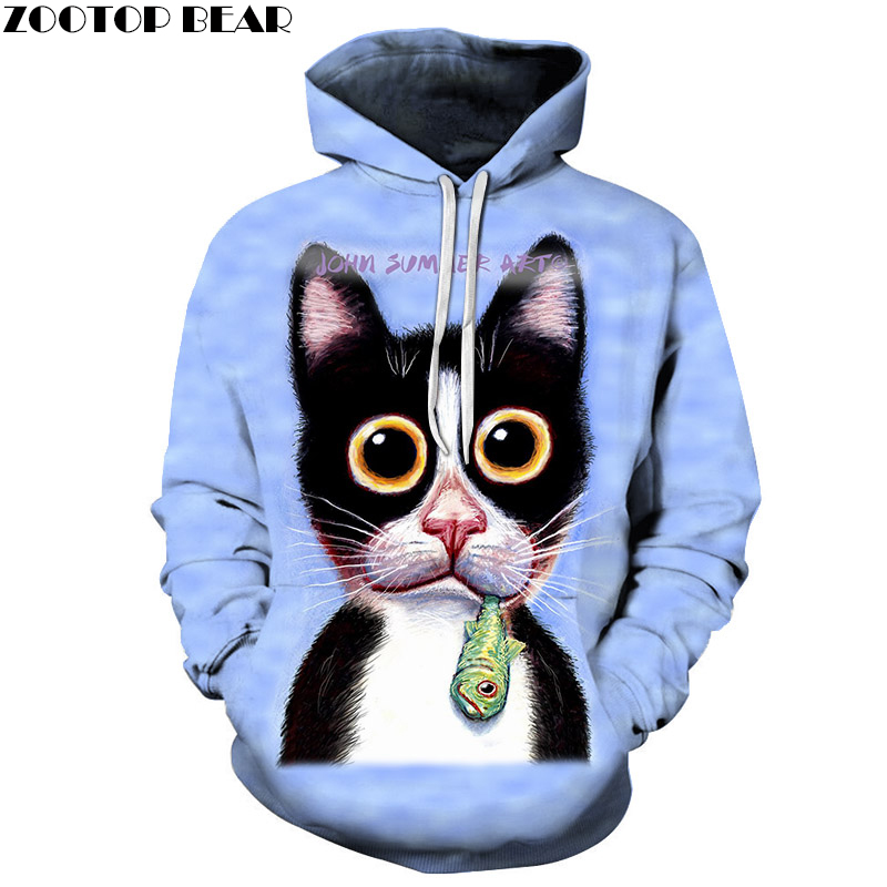 Funny Dog Sweatshirts Men Women Hoodies Autumn Tracksuits 3D Pullover Anime Hoody Boy Coat Streetwear 6xl Drop Ship ZOOTOP BEAR