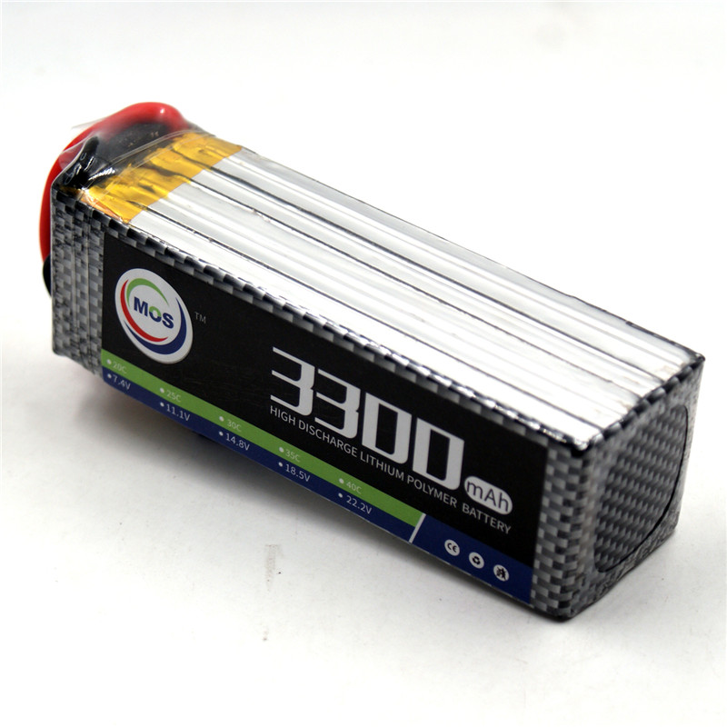 MOS 6S RC Lipo battery 22.2v 3300mAh 40C For RC Airplane Helicopter Truck Car AKKU Free shipping